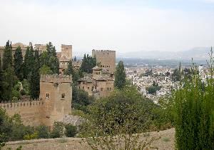 Вид на Гранаду с холма аль-Сабика